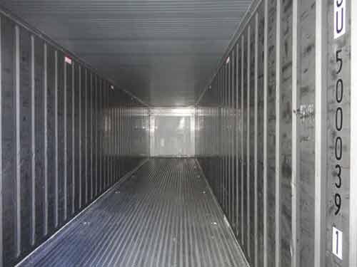 interieur container 40 pieds frigo