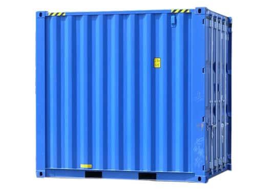 container de stockage 8 pieds bleu