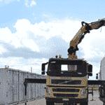 dechargement d'un container 20 pied