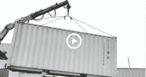 déchargement d'un container 20 pieds