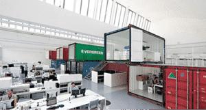 bureaux container et aménagement intérieur