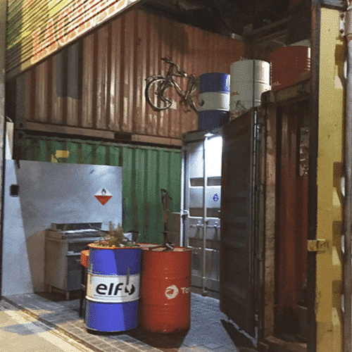 entree en container restaurant la cambuse dunkerque