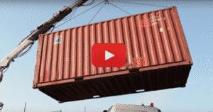 Chargement d'un container 20 pieds d'occasion sur châssis part.1