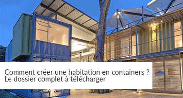 Container pour habitation petite maison container with for Habitation contener