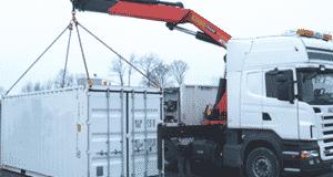 dechargement-container-grue