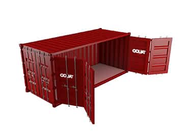 france container open side 20 pieds 20 ft