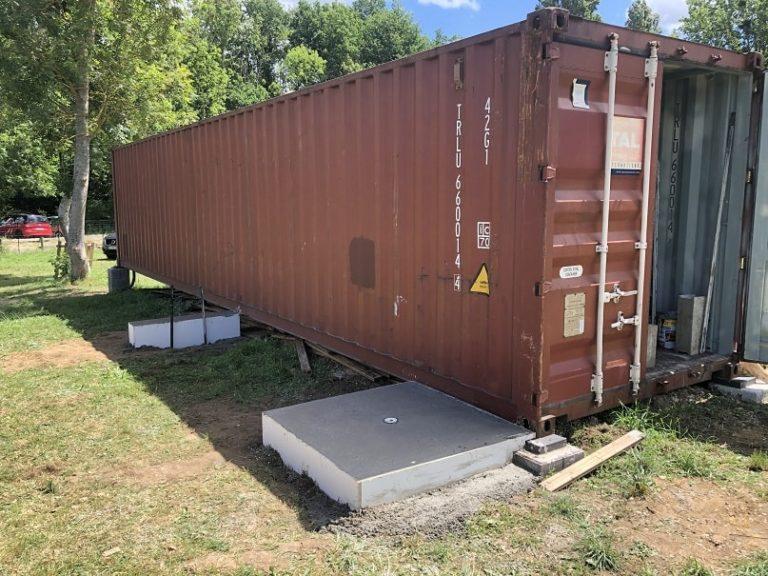Container 40 pieds livré par Goliat Containers