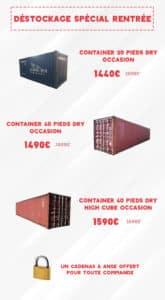 Promotions Containers Goliat Départ Fos