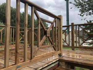 Installation terrasse sur container 40 pieds pour la Sermaise Electro Modélisme
