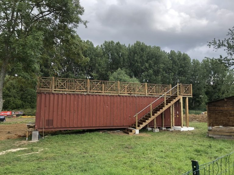 Terrasse sur container 40 pieds