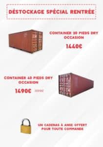 Promotions Containers Goliat Départ Havre