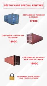 Promotions Containers Goliat Départ Lyon