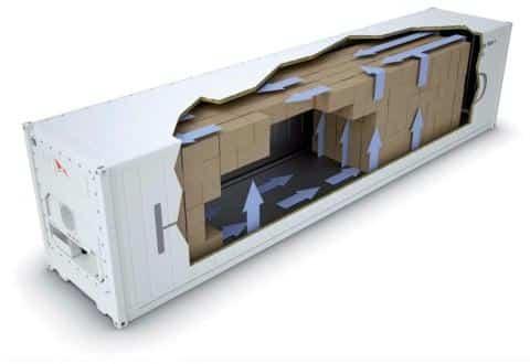 Circulation de l'air et contrôle de température du conteneur frigorifique