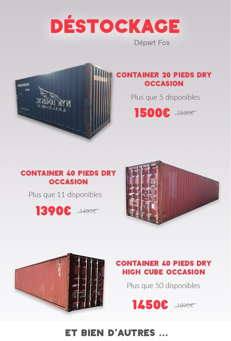 Promotion container départ de Fos