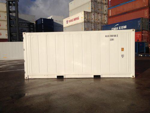 Container frigorique avant départ pour expédition inspection entrepôt containers maritimes GOLIAT containers